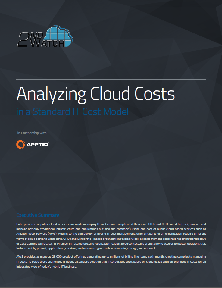Analyzing Cloud Costs